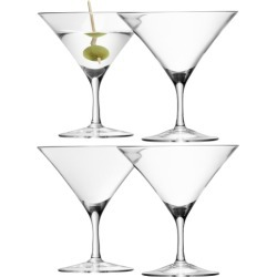 LSA International Bar Martini Glass 180ml Clear X 4 found on Bargain Bro UK from Harvey Nichols