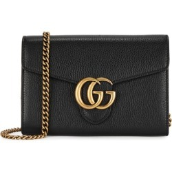 Gucci GG Marmont Black Leather Wallet-on-chain found on Bargain Bro UK from Harvey Nichols for $1126.89