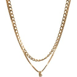 Cornelia Webb Warped Double Chain Necklace & Gemstone Pendant found on MODAPINS from Harvey Nichols for USD $234.14