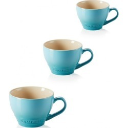 Le Creuset Set Of 3 Stoneware Grand Mugs Teal found on Bargain Bro UK from Harvey Nichols