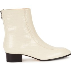 Aeyde Amelia 40 Cream Crocodile-effect Leather Ankle Boots found on MODAPINS from Harvey Nichols for USD $466.63