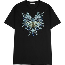 Givenchy Stuido Homme Black Printed Cotton T-shirt found on MODAPINS from Harvey Nichols for USD $458.97