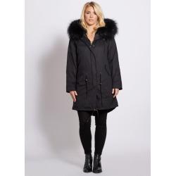 Popski London Popski London Black 3-4 Length Parka With Matching Raccoon Fur Collar found on Bargain Bro UK from Harvey Nichols