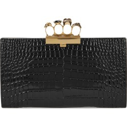 Black embellished crocodile-effect leather clutch found on MODAPINS from Harvey Nichols US for USD $1790.00