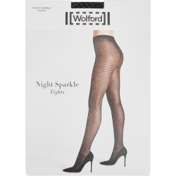 Wolford Night Sparkle Metallic-knit Tights found on MODAPINS from Harvey Nichols for USD $52.24