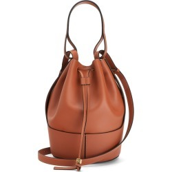 Loewe Balloon Medium Brown Leather Bucket Bag found on MODAPINS from Harvey Nichols for USD $2777.05