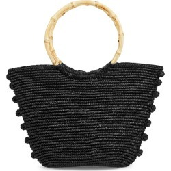 Sensi Studio Black Straw Top Handle Bag found on Bargain Bro UK from Harvey Nichols