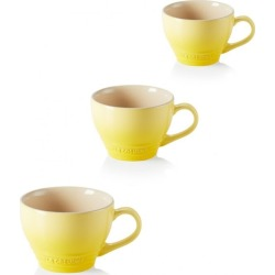 Le Creuset Set Of 3 Stoneware Grand Mugs Soleil found on Bargain Bro UK from Harvey Nichols