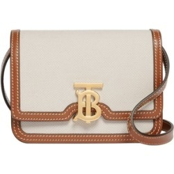 Burberry Mini Two-tone Canvas And Leather TB Bag found on MODAPINS from Harvey Nichols for USD $1263.83