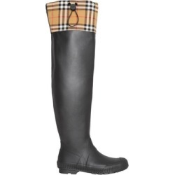 Burberry Vintage Check And Rubber Knee-high Rain Boots found on MODAPINS from Harvey Nichols for USD $417.92