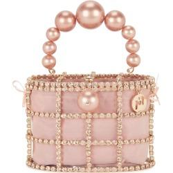 Rosantica Holli Pink Crystal-embellished Top Handle Bag found on Bargain Bro UK from Harvey Nichols