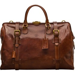 Maxwell Scott Bags Tan High Quality Leather Luggage Bag In Tan found on Bargain Bro UK from Harvey Nichols