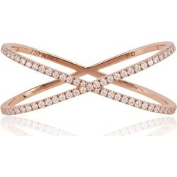Alinka Jewellery Katia Duo Crossover Two-finger Ring Rose Gold found on MODAPINS from Harvey Nichols for USD $4609.08