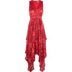 Alice + Olivia Sammi Red Floral-devoré Midi Dress found on Bargain Bro UK from Harvey Nichols