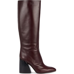 Chloé 70 Burgundy Leather Knee Boots found on MODAPINS from Harvey Nichols for USD $1120.60