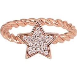 Alinka Jewellery Stasia Single Star Ring Braided Rose Gold found on MODAPINS from Harvey Nichols for USD $1901.26