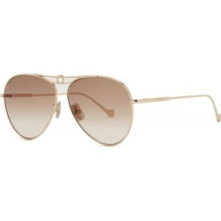 Loewe Light Gold-tone Aviator Style Sunglasses found on MODAPINS from Harvey Nichols for USD $439.16