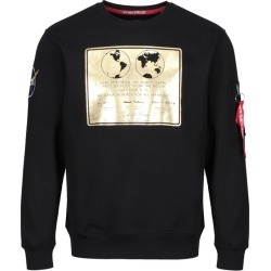 Alpha Industries Lunar Plaque Sweater Black found on MODAPINS from Harvey Nichols for USD $113.08