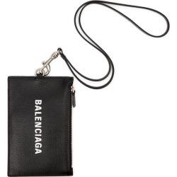 Balenciaga Black Logo Leather Neck Pouch found on Bargain Bro UK from Harvey Nichols