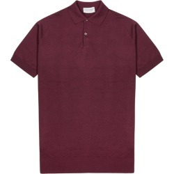 John Smedley Payton Burgundy Wool Polo Shirt found on MODAPINS from Harvey Nichols for USD $174.37