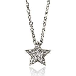 Alinka Jewellery Stasia Mini Necklace White Gold found on MODAPINS from Harvey Nichols for USD $1572.57