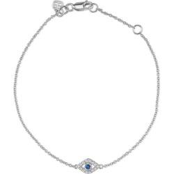 Sydney Evan 14ct White Gold And Blue Sapphire Evil Eye Set Bracelet found on Bargain Bro UK from Harvey Nichols