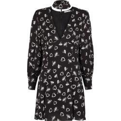 Alice + Olivia Ella Black Heart-print Satin Mini Dress found on Bargain Bro UK from Harvey Nichols