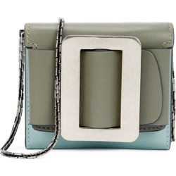 Boyy Buckle Two-tone Leather Coin Purse found on MODAPINS from Harvey Nichols for USD $366.79