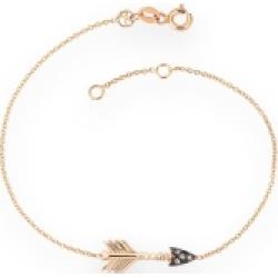 Kismet By Milka 14ct Rose Gold And Diamond Arrow Bracelet found on Bargain Bro UK from Harvey Nichols