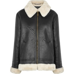 Alpha Industries B3 Black Faux Leather Jacket found on MODAPINS from Harvey Nichols for USD $312.63