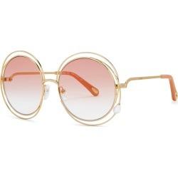 Chloé Carlina Gold-tone Round-frame Sunglasses found on Bargain Bro UK from Harvey Nichols