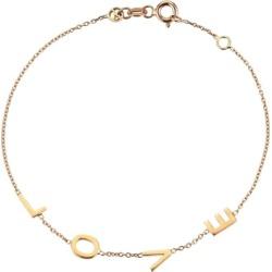 Kismet By Milka 14ct Rose Gold Love Bracelet found on Bargain Bro UK from Harvey Nichols