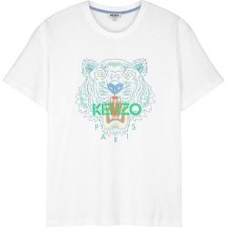 Kenzo White Tiger-print Cotton T-shirt found on Bargain Bro UK from Harvey Nichols