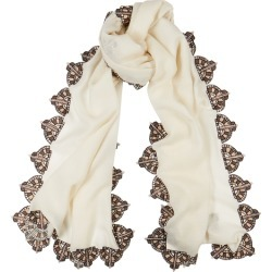 Janavi India X Kiera Chaplin Betty Davis Embellished Cashmere Scarf found on MODAPINS from Harvey Nichols for USD $913.17
