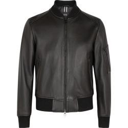 BOSS Naitro Black Leather Bomber Jacket found on Bargain Bro UK from Harvey Nichols