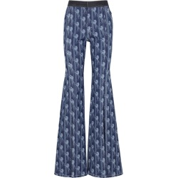 Chloé Blue Horse-print Flared Jeans found on MODAPINS from Harvey Nichols for USD $860.00