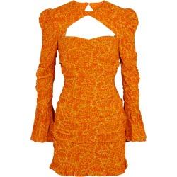 De La Vali Al Capone Printed Georgette Mini Dress