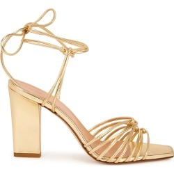 Aeyde Daisy 100 Gold Leather Sandals found on MODAPINS from Harvey Nichols for USD $233.32