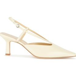 Aeyde Savanna 75 Lemon Slingback Leather Pumps found on MODAPINS from Harvey Nichols for USD $214.65
