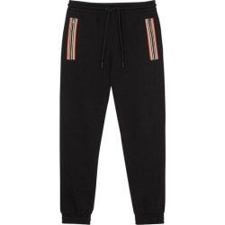 Burberry Icon Stripe Detail Organic Cotton Jogging Pants found on MODAPINS from Harvey Nichols for USD $625.26