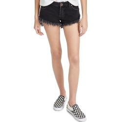 One Teaspoon Worn Black Bonitas Low Waist Denim Shorts found on MODAPINS from shopbop for USD $98.00