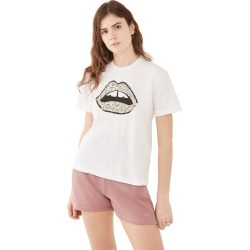 Markus Lupfer Anna Heart Lip Tee found on MODAPINS from shopbop for USD $87.50