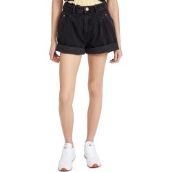 One Teaspoon Worn Black Street Walkers High Waist 80s Shorts found on MODAPINS from shopbop for USD $118.00
