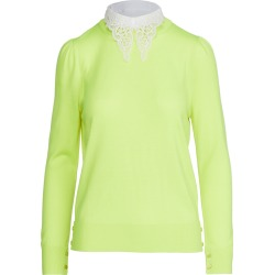 Adam Lippes Crew Neck Sweater with Detachable Lace Collar found on MODAPINS from shopbop for USD $790.00