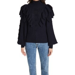 Autumn Cashmere Victorian Double Ruffle Fisherman Mock Sweater found on Bargain Bro India from shopbop for $395.00