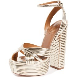 Aquazzura Sundance 140 Plateau Sandals found on MODAPINS from shopbop for USD $447.50