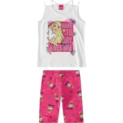 Conjunto Barbie® Menina Malwee Kids Branco - 6 found on Bargain Bro Philippines from Malwee Malhas for $24.46