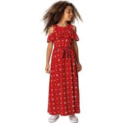 Vestido Longo ncoras Menina Malwee Kids Vermelho - 4 found on Bargain Bro India from Malwee Malhas for $24.46