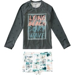 Conjunto UV 50+ Surf Wave Menino Malwee Liberta Cinza Escuro - 2 found on Bargain Bro Philippines from Malwee Malhas for $53.86