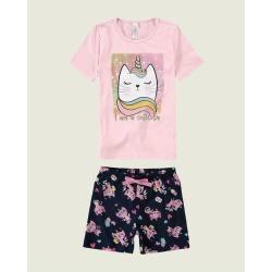 Pijama I Am A Caticorn Menina Malwee Liberta Rosa Claro - 6 found on Bargain Bro Philippines from Malwee Malhas for $29.36